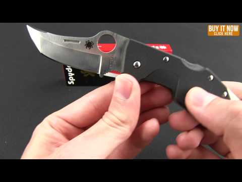 "Spyderco Battlestation Lockback Knife Black G-10 (2.97"" Satin) C168GP"