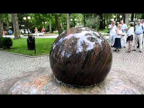 Kugelbrunnen schwimmende Granitkugel