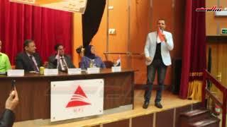 انا المصري الأصيل غناء خالد بيومي في احتفال أكتوبر بالشرقية
