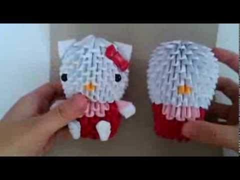 3D origami hello kitty new version part 3