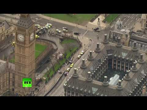 Вертолёт облетел место теракта в центре Лондона - DomaVideo.Ru