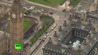 Вертолёт облетел место теракта в центре Лондона