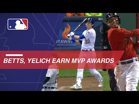 Video: Betts, Yelich take home the AL and NL MVP Awards