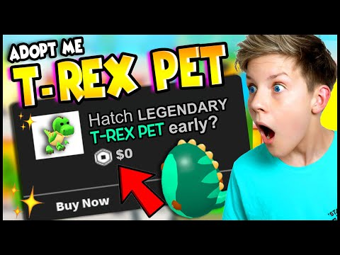 HACK To Hatch a T-REX PET Early in Adopt Me!! Can We Get These Tik Tok Hacks To Work?! PREZLEY