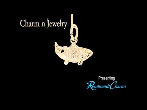 Fish Gold Charm Style 487