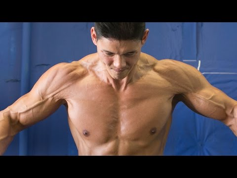 shoulder work out - 1 crazy trick to build muscle: http://sixpackshortcuts.com/rd3P Hey guys, Today my buddy Johnson and I are going to show you our Monster Set workout. This is...