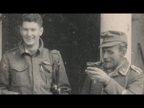 Shot down Allied pilot befriends German captors and hatch a plan to both act as each other's prisoner.