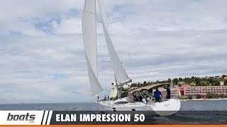 Climb aboard the 2017 Elan Impression 50 with boats.com reviewer Dieter Loibner. This new sailing yacht has a strong emphasis on space and comfort, and it includes a full teak deck, a large cockpit, a big bimini, a cockpit fridge, an electric stern platform and many more luxurious amenities to please those on board.RELATED VIDEOS & PLAYLISTS:Elan GT5: Video Boat Review - https://youtu.be/TnOO4eO2JX4Elan GT5: First Look Video - https://youtu.be/M4tRJbgv78cElan E4 Family Edition: Video Boat Review - https://youtu.be/zMo4NSpxC3QSailboats and Sailing Boats - https://youtu.be/M4tRJbgv78cBoat Review / Performance Test - https://www.youtube.com/playlist?list=PL05F14609E2F696DFSubscribe to our boats.com channel: https://www.youtube.com/user/boatsdotcomFor more boating videos, visit http://www.boats.com.boats.com features boat reviews, how-to videos, special features, and information about new boats, boats for sale, and boating products—usually with a dash of fun.Our reviewers test the features, performance, and specifications of each boat, searching out the hidden details for a critical evaluation. If you're shopping for a boat, we want to help you make the best choice. And if you're just looking, we'll try to make it fun too. Subscribe to receive notification of new videos.