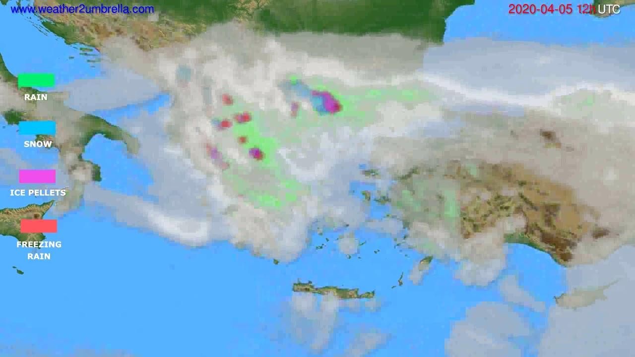 Precipitation forecast Greece // modelrun: 00h UTC 2020-04-05