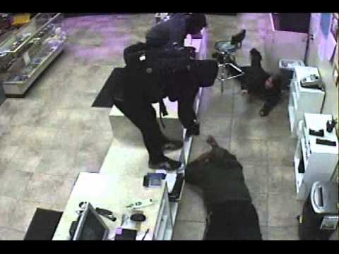 Surveillance video of the Mister Money Robbery from November 2013