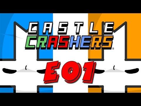 Castle Crashers кооп e01 с Сибирским Леммингом и Банзайцем