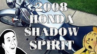 4. Showing Off My 2008 Honda Shadow Spirit 750 Cruiser Motorcycle
