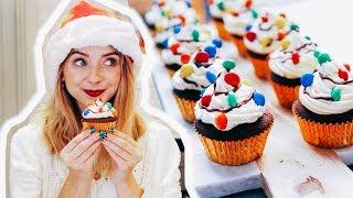 Video Gingerbread Christmas Light Cupcakes | Zoella | AD MP3, 3GP, MP4, WEBM, AVI, FLV September 2018