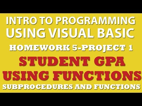 VB.net Calculating Student GPA (pp 5-1) With Functions and Procedures