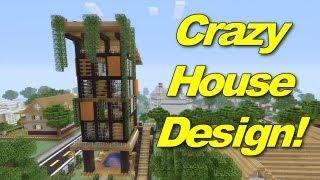Minecraft Xbox 360: Crazy House Design! (House Tours of Danville Episode 4)