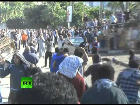 Egypt riots - Police fired tear gas at protesters as supporters and opponents of President Mohamed Morsi clashed in Cairo. Demonstrations took place in several cities thro...