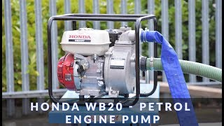 7. Honda WB20  - Petrol Engine Pump in action
