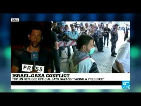Des terroristes à Gaza tirent des roquettes sur Israël juste à côté d'un journaliste de France24 en direct