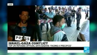 Rocket fire caught live as France 24 correspondent reports from Gaza strip