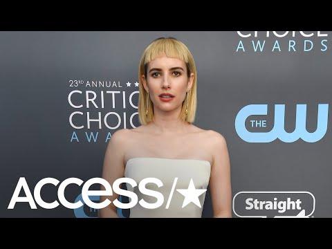 Emma Roberts Debuts Bold New Bangs At 2018 Critics Choice Awards!
