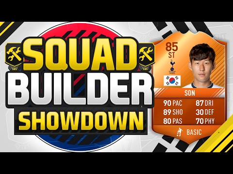 FIFA 17 SQUAD BUILDER SHOWDOWN!!! MOTM STRIKER SON!!! Position Changed Striker Son Squad Duel