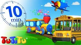 TuTiTu Specials | Transportation Toys for Children | School Bus, Train and More!