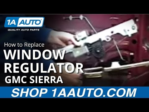 How to install replace power window regulator chevy for 2000 silverado window motor