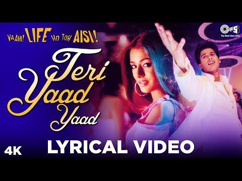 Teri Yaad Yaad Lyrical - Vaah! Life Ho Toh Aisi! | K.K., Jayesh | Shahid Kapoor, Sanjay Dutt, Amrita