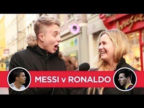 Video: MESSI v RONALDO - decided by girls