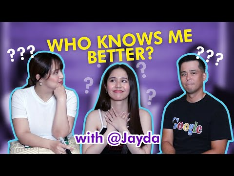 FEELENNIALS LANG! did WHO KNOWS ME BETTER with JAYDA | Dingdong and Jessa