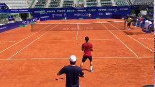 Kei Nishikori se prepara para el Argentina Open