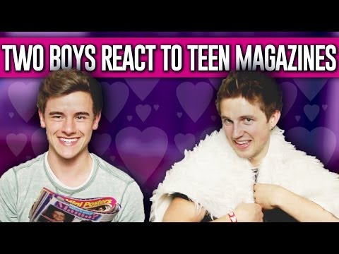 TWO BOYS REACT TO TEEN MAGAZINES