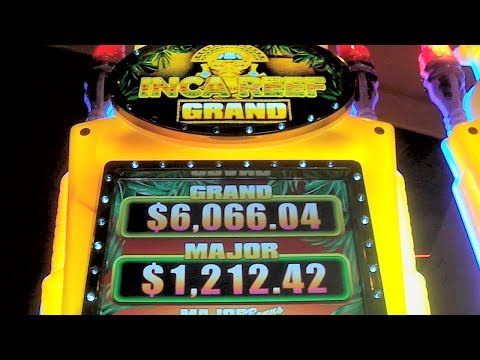 NEW SLOT – Inca Reef Grand – FIRST LOOK Las Vegas Slots Machine Win