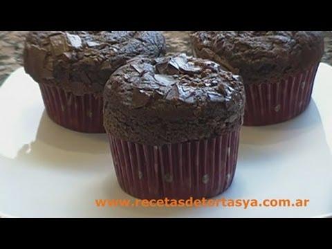 Muffins de chocolate - Magdalenas de Chocolate - Recetas de Tortas YA!