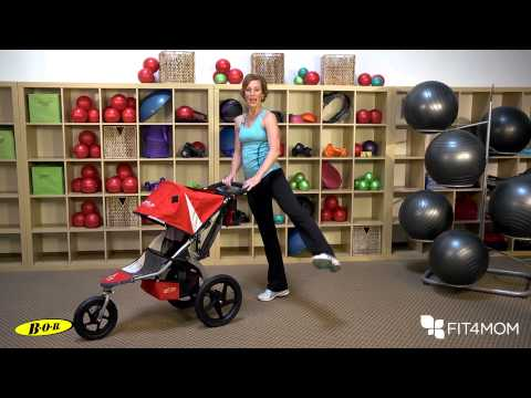 Leg Swing using the Stroller - Stroller Strides