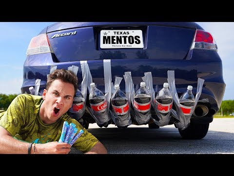 Launching A Car Using ONLY Coke And Mentos!