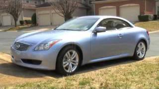 Detailed Walkaround 2009 Infiniti G37 Convertible.