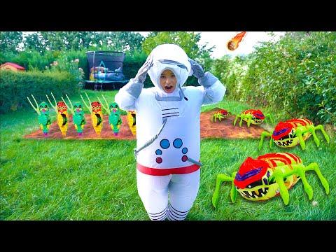 Invasion d'Aliens Dans Notre Jardin ! - Trésor X Aliens