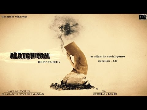Alatchiyam as silent in social genre short film