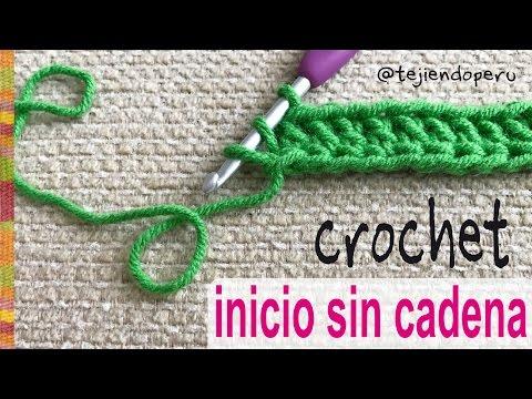 Cómo empezar el tejido a crochet ¡SIN CADENA DE INICIO! - Tejiendo Perú