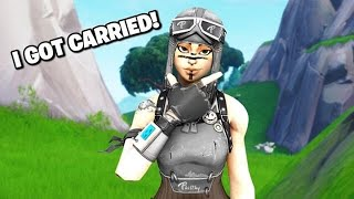Getting *CARRIED* by the BEST ps4 streamer! (he did this) fortnite battle royale