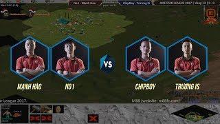 AOE STAR LEAGUE 2017 | Vòng 13 | No1 - Mạnh Hào vs ChipBoy - Trương IS | BLV:G_Thy Anh
