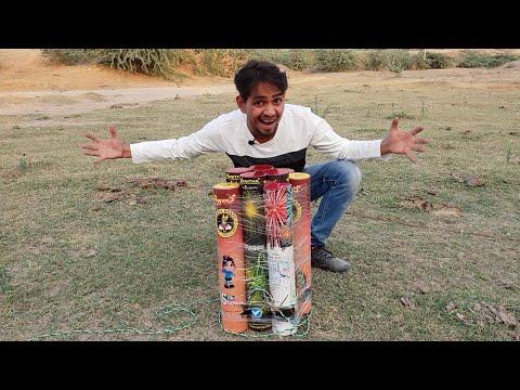मजा आ गया जब हमने 10 दीवाली स्काई शॉट एक साथ चलाये - Diwali special | MR. INDIAN HACKER