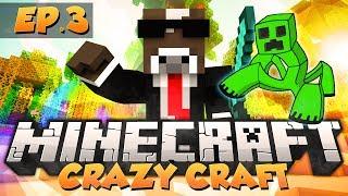 """Minecraft """"MUTANT CREEPER BATTLE"""" - CRAZY CRAFT Modded Survival - Ep. 3 ( Crazy Craft Part 3 )"""