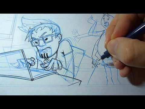 COMIC Zeichnen – Tuschen mit Fineliner