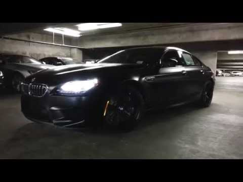 NEW 2015 BMW M6 GRAN COUPE FROZEN BLACK WALK AROUND  Car Review