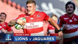 Lions v Jaguares Rd.4 2019 Super rugby video highlights | Super Rugby Video Highlights