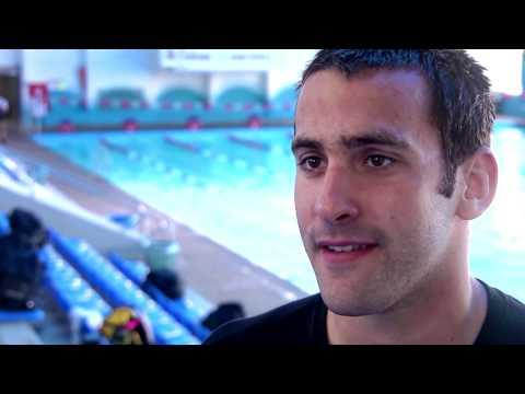 Israeli Olympic swimming qualifyer Jonathan Koplev