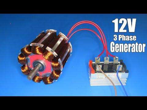 How to make 3 phase Generator 12V