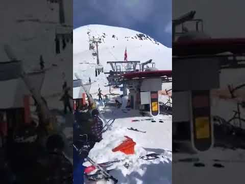 Ski Lift in Georgia (the country) out of control